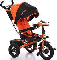 Детский трехколесный велосипед  Best Trike 6088, поворотное сиденье. Оранжевый.