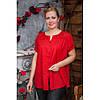 Блуза большие размеры натуральная ткань 639-1ИН