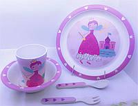 Набор детской Eco посуды Бамбук 5 пр Mondex