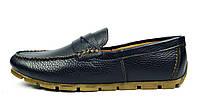 Черно-синие мужские кожаные мокасины VLAD XL , фото 1