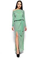 Платье в пол из облегченного трикотажа с люрексом 42-46р
