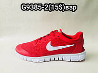 Красные мужские кроссовки Nike Free Run сетка опт