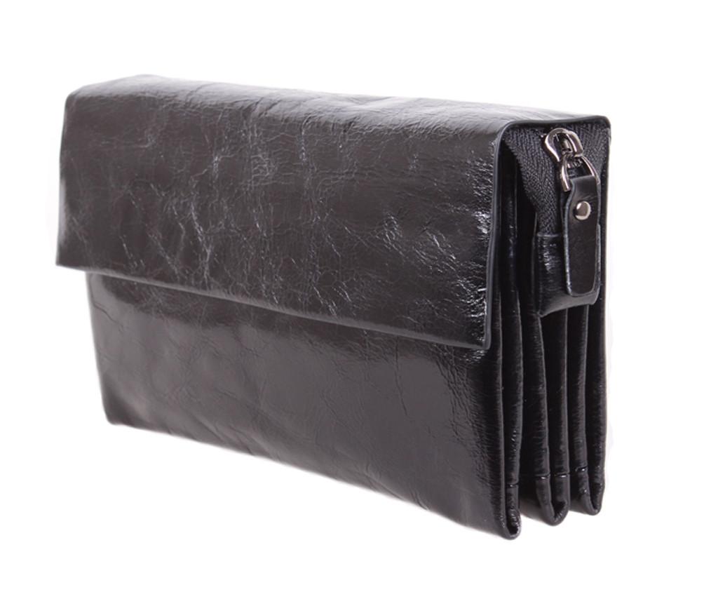 Мужской кожаный клатч BLACK004-1 Черный