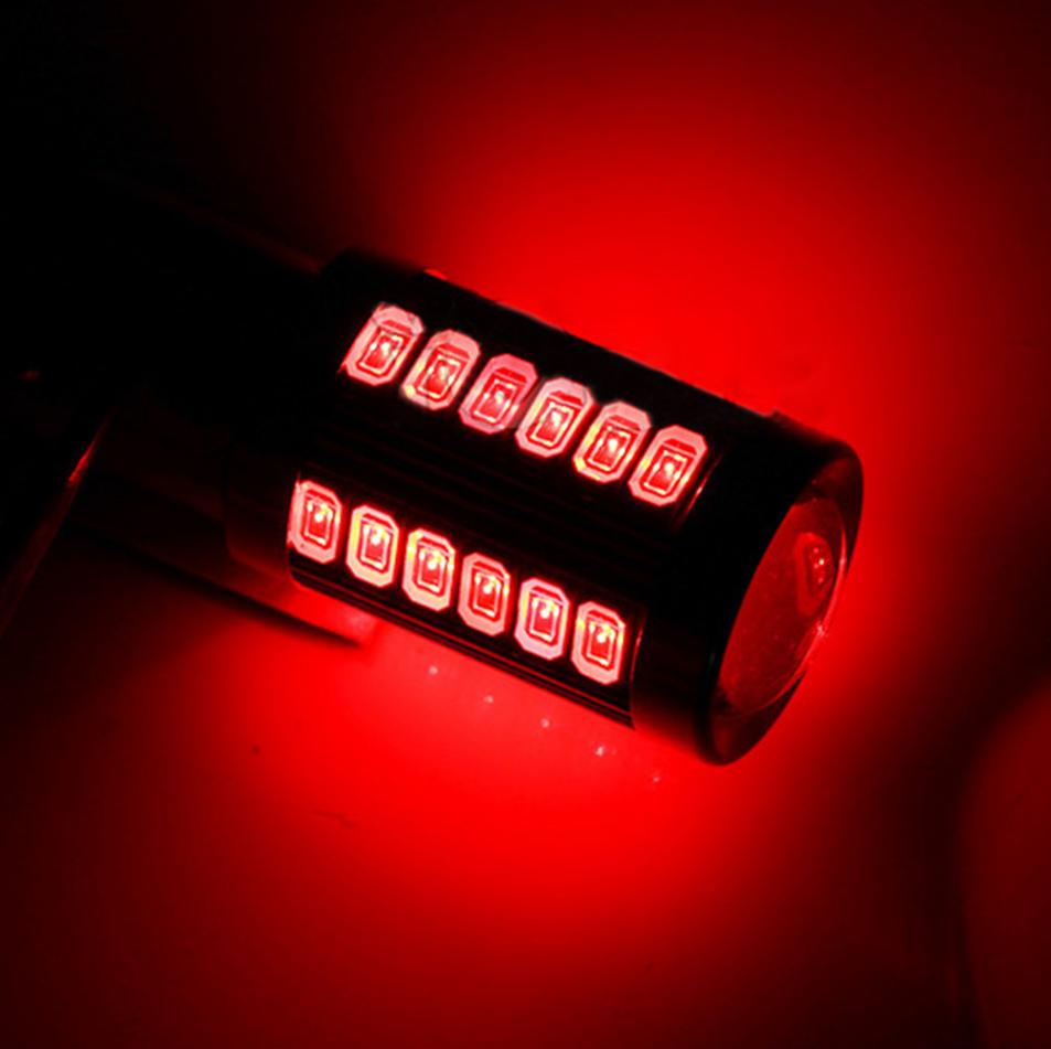 Автолампа LED, P21W, 1156, 33 SMD 5630, 12V, Красная