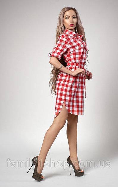 b8a67204efc Летнее женское платье-рубашка с удлиненной спинкой . - Familyshop в  Хмельницком