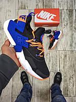 Мужские кроссовки Nike Найк чёрные с синим