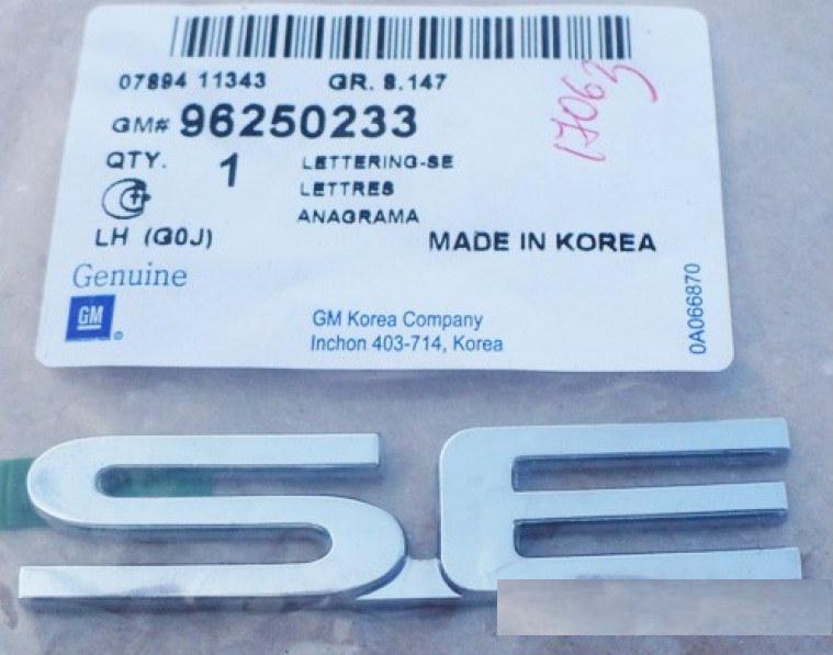 Надпись SE  на Дэу Ланос Заз Сенс GM 96250233
