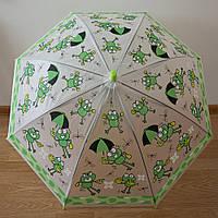 """Детский зонт 1756 """"Лягушки"""", фото 1"""