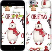 """Чехол на iPhone 6 Merry Christmas """"4106c-45-571"""""""
