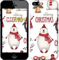 """Чехол на iPhone 5 Merry Christmas """"4106c-18-571"""""""