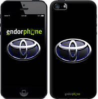 """Чехол на iPhone 5 Toyota. Logo v2 """"3139c-18-571"""""""