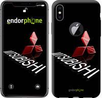 """Чехол на iPhone X Mitsubishi. Logo v3 """"3128c-1050-571"""""""