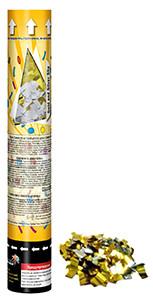 Пневмохлопушка 30 см. Maxsem CM033 (золотой и серебряный фольгированный метафан)