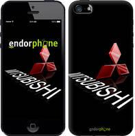 """Чехол на iPhone 5 Mitsubishi. Logo v3 """"3128c-18-571"""""""