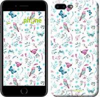 """Чехол на iPhone 7 Plus Бабочки и птички """"3371c-337-571"""""""