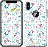"Чехол на iPhone X Бабочки и птички ""3371c-1050-571"""
