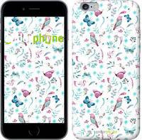 """Чехол на iPhone 6 Plus Бабочки и птички """"3371c-48-571"""""""