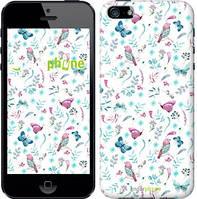 """Чехол на iPhone 5s Бабочки и птички """"3371c-21-571"""""""