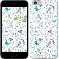 "Чехол на iPhone 6 Бабочки и птички ""3371c-45-571"""