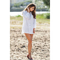 Летняя блуза туника натуральная ткань 791ИН, фото 1