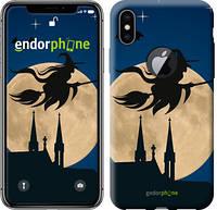 """Чехол на iPhone X Ведьма на метле v2 """"3251c-1050-571"""""""