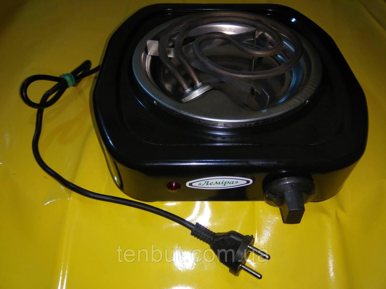 Электроплита Лемира 1-конфорочная 220 В. / 1.0 кВт. настольная узкий тэн .