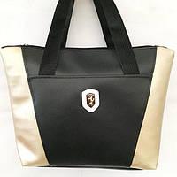 Универсальные сумки КОЖВИНИЛ Ferrari (черный+золото)30*41