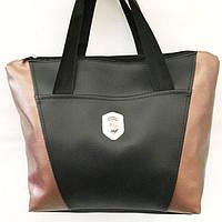 Универсальные сумки КОЖВИНИЛ Ferrari (черный+бронза)30*41