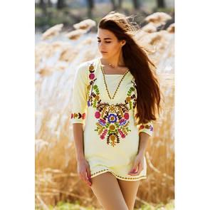 Летняя блуза туника натуральная ткань 41ИН