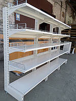 Торговый металлический стеллаж Модерн без задней стенки