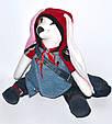 Зайчик мальчик, интерьерная тряпичная кукла, 43 см, фото 6