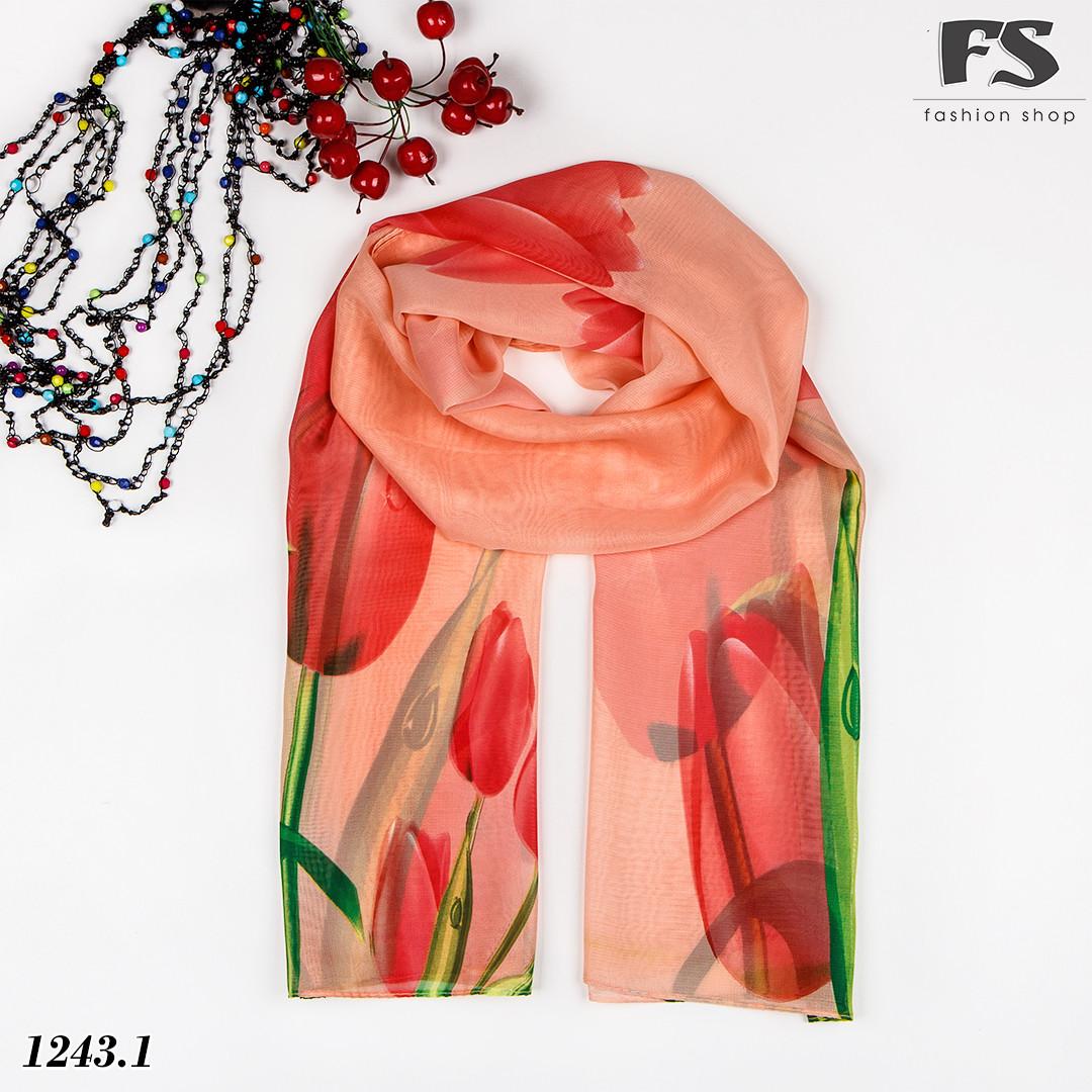 Лёгкий шарф Tulips