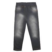 Леггинсы для девочек 92-116 (2-6 лет) 2 вида, джинсовый фон