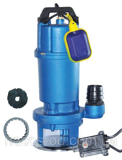 Канализационный насос фекальный Euroaqua WQ 10-10-0.75 для выгребных ям 0.75кВт Hmax7м Qmax300л/мин (с ножом)