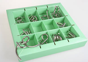 Набор головоломок Eureka 10 Metall Puzzles Green