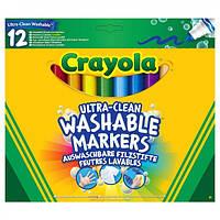 Фломастеры, широкие смываемые 12 цветов ТМ Crayola
