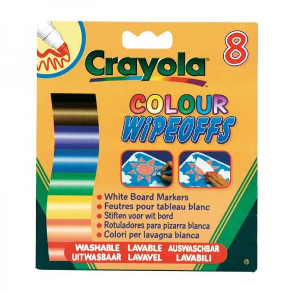 Фломастеры для письма на доске 8 цветов ТМ Crayola