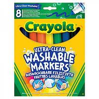 Фломастеры широкие смываемые 8 цветов ТМ Crayola