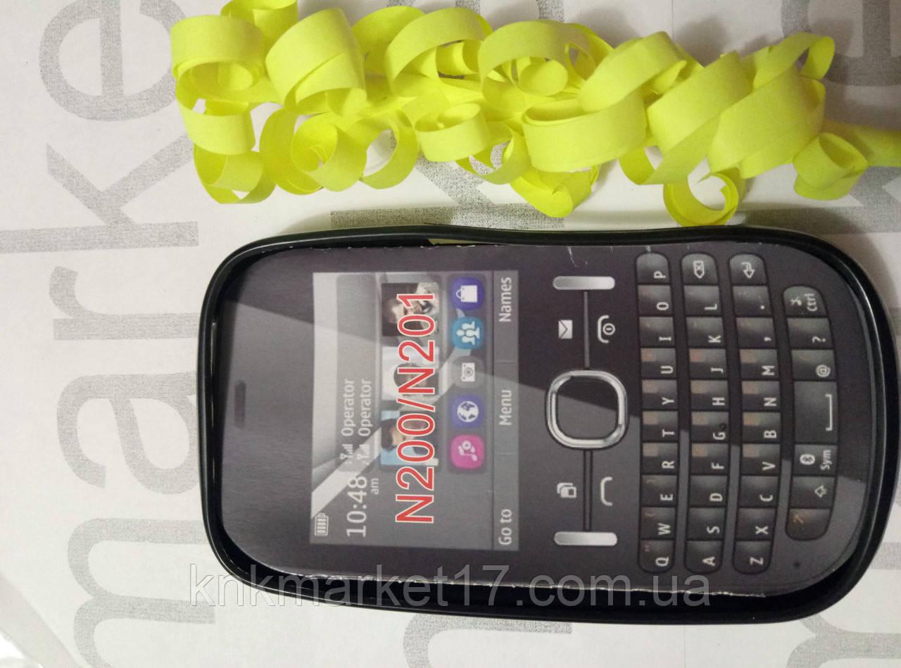 Чохол для Nokia N200/N201 (чорний силікон)