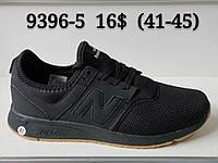 Кроссовки мужские черные New Balance сетка опт