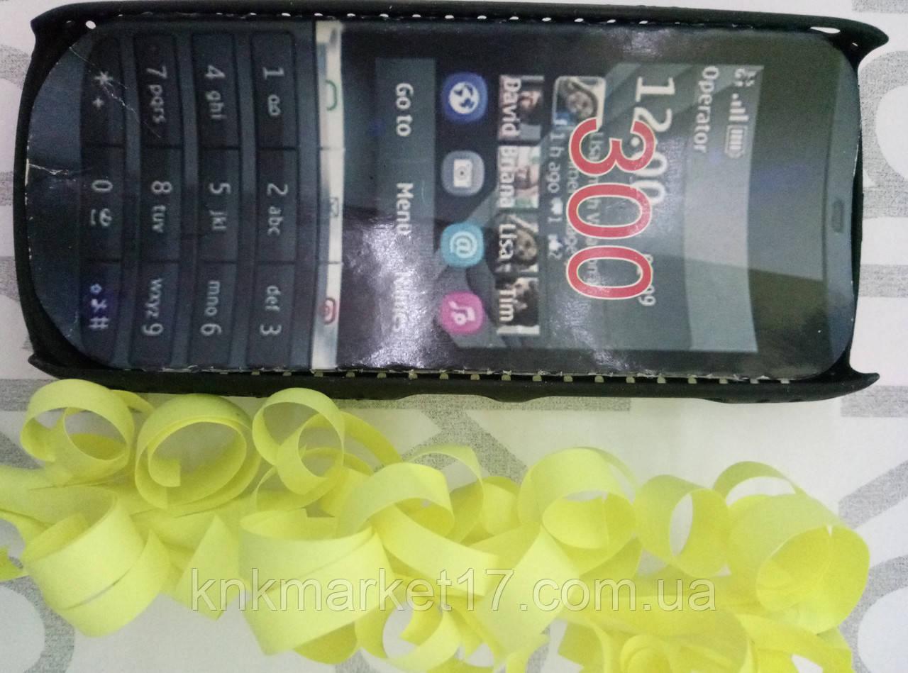 Чохол для Nokia 300 (чорний пластик)
