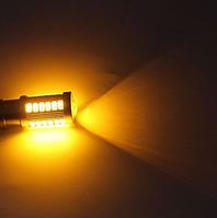 Автолампа LED, P21W, 1156, 33 SMD 5630, 12V, Жёлтая