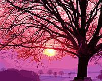 Картина по цифрам Дерево на закате (BK-GX21541) 40 х 50 см [Без коробки]
