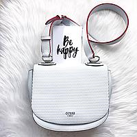 Белая брендовая женская сумка Guess оригинал