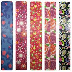 Пилка 220/240 грит Бытовая Широкая для Натуральных Ногтей Разных Цветов