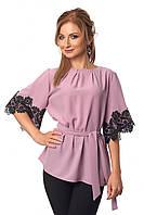 Нарядная блуза с кружевом