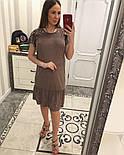 Женское замшевое платье с жемчугом (4 цвета), фото 2