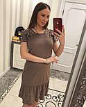 Женское замшевое платье с жемчугом (4 цвета), фото 4