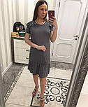 Женское замшевое платье с жемчугом (4 цвета), фото 6