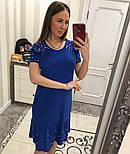 Женское замшевое платье с жемчугом (4 цвета), фото 7